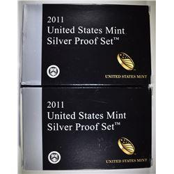 2-2011 U.S. SILVER PROOF SETS ORIG PACKAGING