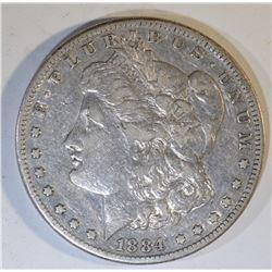1884-S MORGAN DOLLAR VF/XF