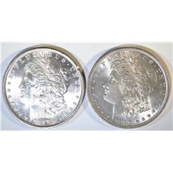 1888 & 96 MORGAN DOLLARS CH BU
