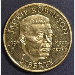 1997 JACKIE ROBINSON $5 PROOF GOLD COMMMEM
