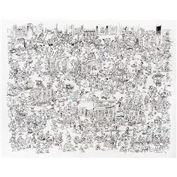 "Sergio Aragones original MAD Magazine recreation artwork 'A MAD Peek - Comic Boook Convention"""