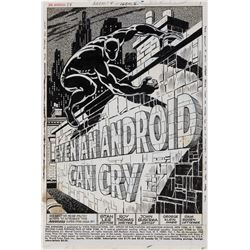 John Buscema and George Klein original title splash artwork for Avengers #58 Page 1.