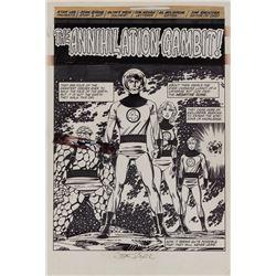 John Byrne original artwork for Fantastic Four #256 complete 22-page story 'The Annihilation Gambit'