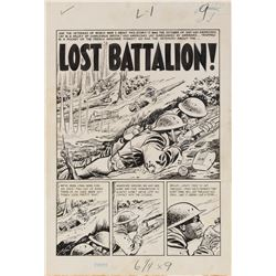 Johnny Craig original artwork for Two Fisted Tales #32 complete 7-page story 'Lost Battalion'.