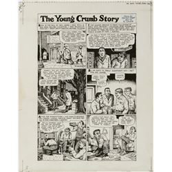 Robert Crumb original artwork for American Splendor #4 complete 7-page story 'The Young Crumb Story'