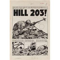 Jack Davis original artwork for Two-Fisted Tales #24 complete 8-page story 'Hill 203!'.