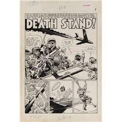 Jack Davis original artwork for Two Fisted Tales #23 complete 8-page story 'Death Stand!'.