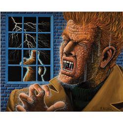 Al Feldstein original cover recreation artwork for Shock SuspenStories #7.