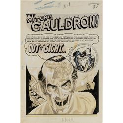 Graham Ingels original artwork for Vault of Horror #38 complete 7-page 'The Witch's Cauldron!' story