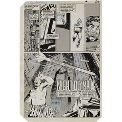 Klaus Janson original artwork for Detective Comics #549 complete 7-page story Green Arrow.