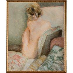 Jeff Jones original nude figure study painting.