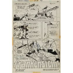 Michael Kaluta artwork for Phantom Stranger #23 complete 8-page story 'The Spawn of Frankenstein!