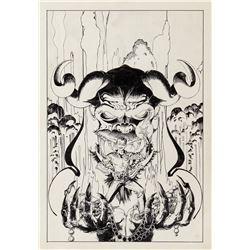Michael Kaluta original cover artwork for Secrets of Haunted House #8.