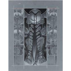 Michael Kaluta original plate artwork for Metropolis by Thea Von Harbou.