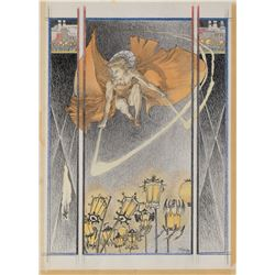 Michael Kaluta original plate artwork for Metropolis by Thea Von Harbou.