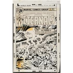 Jack Kirby and John Verpoorten original cover artwork for The Eternals #2.