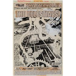 "Jack Kirby and John Verpoorten artwork for The Eternals #2 complete 17-page story 'The Celestials""."