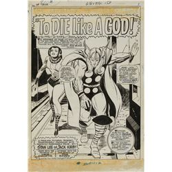 Jack Kirby and Vince Colletta original artwork for The Mighty Thor #139 complete 16-page story.