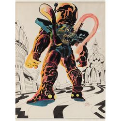 Jack Kirby original presentation artwork for Argo, the CIA covert operation Sci-Fi film project.