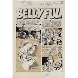 Bernard Krigstein original artwork for Weird Science Fantasy #25 complete 6-page story 'Bellyful'.