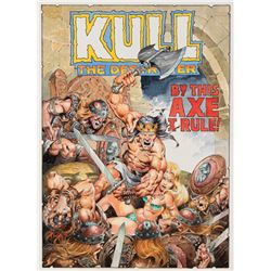 Mike Ploog original cover recreation artwork for Kull the Destroyer # 11.