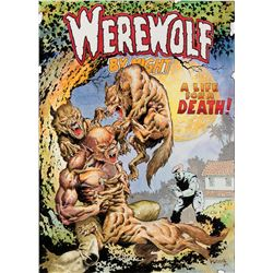 Mike Ploog original cover recreation artwork for Werewolf By Night #5.
