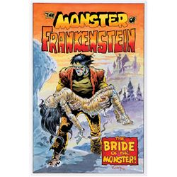 Mike Ploog original cover recreation artwork for The Monster of Frankenstein #2.