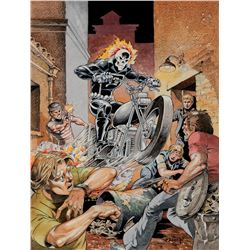 Mike Ploog original cover recreation artwork for Marvel Spotlight #5, 1st appearance of 'Ghost Rider