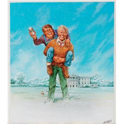 Jack Rickard original back cover artwork for MAD Magazine #209 featuring Jimmy Carter.