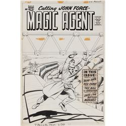 Kurt Schaffenberger original unused cover artwork for Magic Agent.