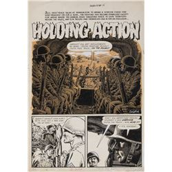 John Severin original artwork for Blazing Combat #2 complete 7-page story 'Holding Action'.
