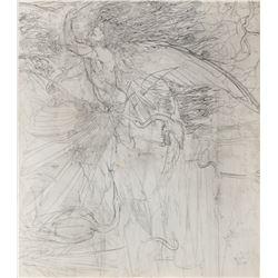 Barry Windsor-Smith original preliminary artwork for 'Icarus'.