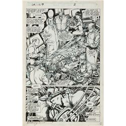 Barry Windsor-Smith original artwork for Weapon X #78 Page 2.