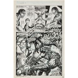Barry Windsor-Smith original artwork for Weapon X #80 Page 2.