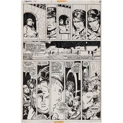 Barry Windsor-Smith and Sal Buscema original artwork for Conan the Barbarian #10 Page 18.
