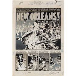 Wally Wood original artwork for Two Fisted Tales #35 complete 7-page story 'New Orleans'.