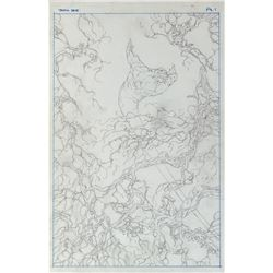 Bernie Wrightson (30) pages of preliminary artwork for unrealized comic Swamp Thing: Deja Vu #1.