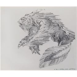 Bernie Wrightson (54) original concept drawings for Dagon, working title: 'Shadow Over Innsmouth'.