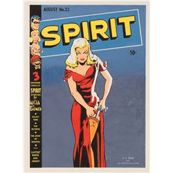 C. C. Beck original cover recreation artwork for The Spirit #22.