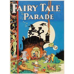 C. C. Beck original cover recreation artwork for Fairy Tale Parade.