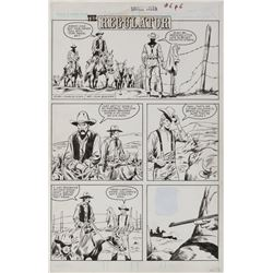 John Buscema original artwork for Savage Tales #6 complete 10-page story 'The Regulator'.