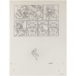 Geof Darrow original artwork for a Hard Boiled #1 page.
