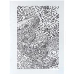 Geof Darrow original cover artwork for The Matrix Comics, Vol. 1.