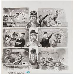 Jack Davis original artwork for MAD Magazine #145 2-pages of the feature 'What Coaches Say'.