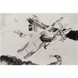 George Evans (5) original artworks for the series 'Hot Skies on the Somme'.