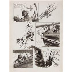 George Evans original artwork for a Blazing Combat page.