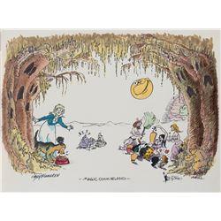 Shary Flenniken, Dan O'Neill, and Bobby London original Trotts and Bonnie jam illustration.