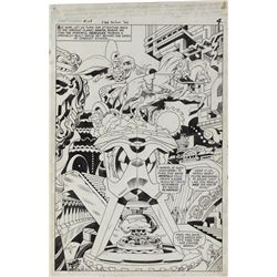 Jack Kirby and Vince Colleta original splash page artwork for Journey Into Mystery #128.
