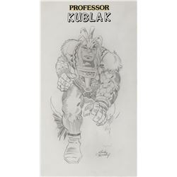 Jack Kirby original artwork featuring 'Kublak'.