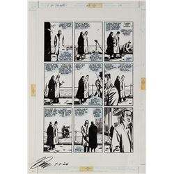 David Lloyd original artwork for V for Vendetta #9 Page 19.